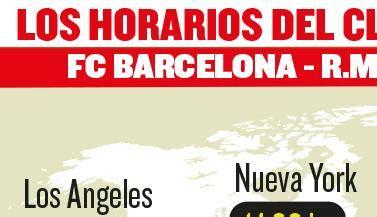 Horario y cómo ver el Clasico Barcelona   Real Madrid