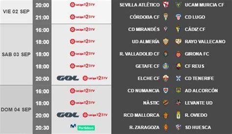 Horario y Fecha Jornada 3 | Segunda División Liga 123 2016 ...