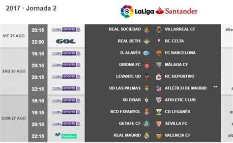 Horario y Televisión de la jornada 2 de la Liga Santander ...