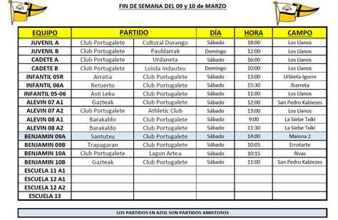 Horarios/Campos partidos Fútbol Base 09 10 Mar. 2019 ...