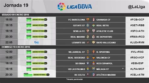 Horarios de la jornada 19 de la Liga BBVA   Liga de Fútbol ...