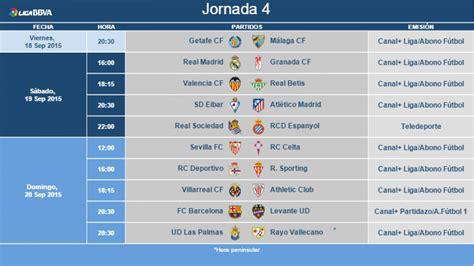 Horarios de la jornada 4 de la Liga BBVA | Noticias | Liga ...