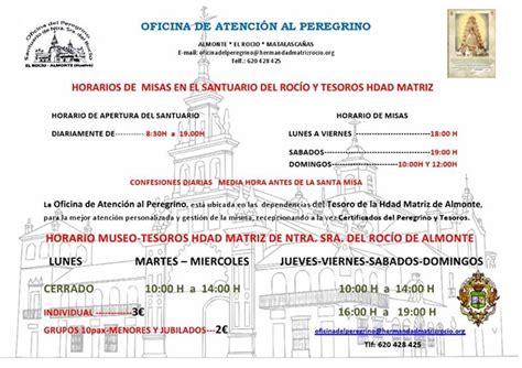 Horarios de Misas en el Santuario del Rocío | Rocio.com