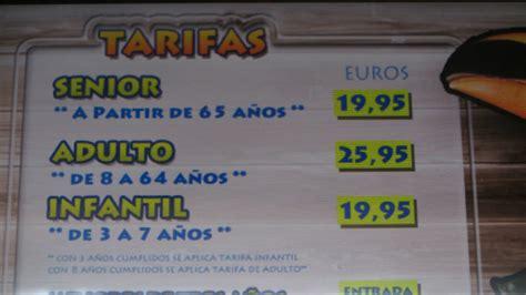 Horarios y precios de las entradas a Faunia ...