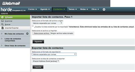 Horde Webmail – Guía o manual completo