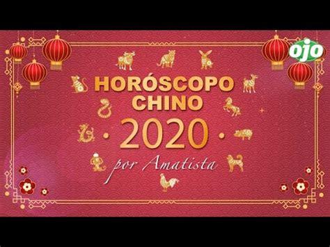 HORÓSCOPO CHINO 2020 con Amatista | Mono, gallo, perro y ...