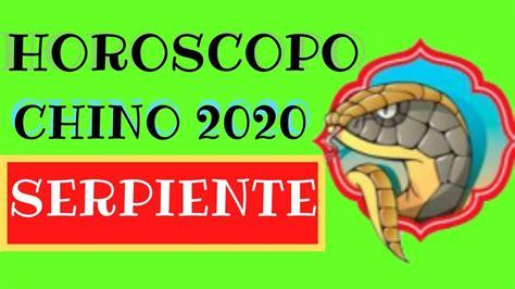 Horoscopo Chino 2020 Serpiente   YouTube