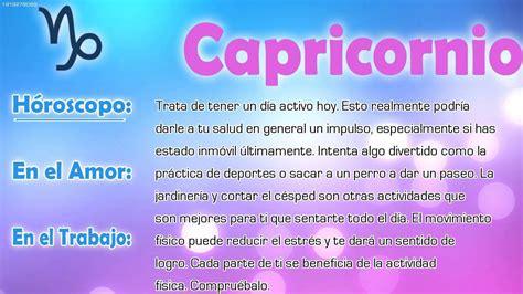 Horóscopo del día   Capricornio   21/06/2016   YouTube