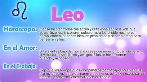 Horóscopo del día   Leo   21/05/2015   YouTube