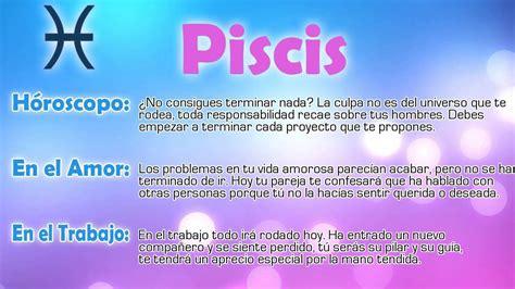 Horóscopo del día   Piscis   16/02/2015   YouTube