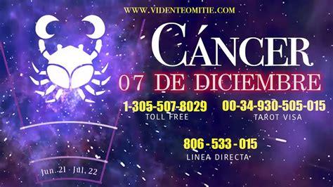 Horóscopo diario CÁNCER hoy día 6 de Diciembre del 2019 ...