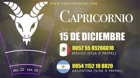 Horóscopo diario CAPRICORNIO hoy día 15 de Diciembre del ...