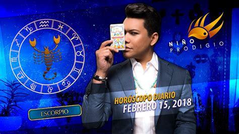Horóscopo Diario de Escorpio   Febrero 15, 2018   YouTube