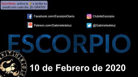 Horóscopo Diario   Escorpio   10 de Febrero de 2020   YouTube