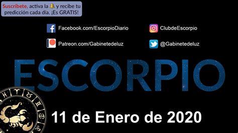 Horóscopo Diario   Escorpio   11 de Enero de 2020   YouTube
