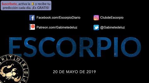 Horóscopo Diario   Escorpio   20 de Mayo de 2019   YouTube