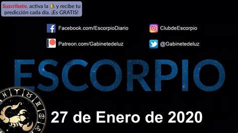 Horóscopo Diario   Escorpio   27 de Enero de 2020   YouTube
