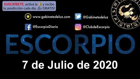 Horóscopo Diario   Escorpio   7 de Julio de 2020   YouTube