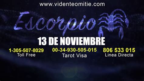 Horóscopo diario ESCORPIO hoy día 13 de Noviembre del 2019 ...
