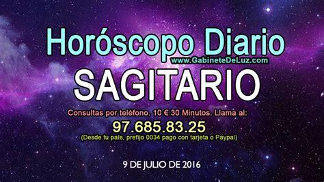 Horóscopo Diario   Sagitario   9 de Julio de 2016   YouTube