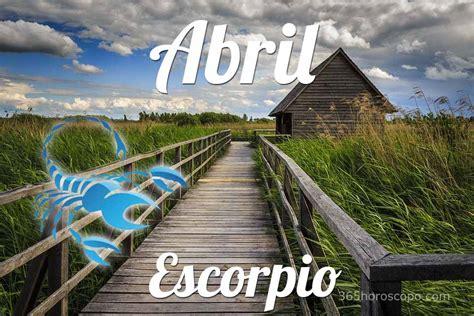 Horóscopo Escorpio Abril 2020   Horóscopo mensual