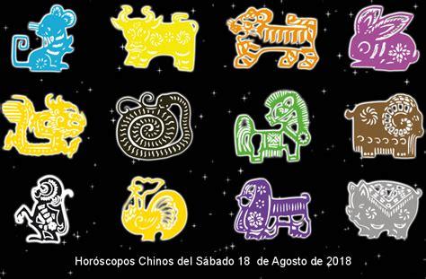 Horóscopos Chinos del Sábado 18 de Agosto de 2018 ...