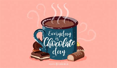 Hot Chocolate Mug Wallpaper   Vector download