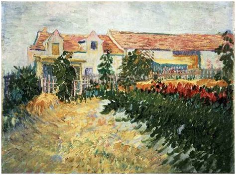 House with Sunflowers by Vincent Van Gogh   237   Painting