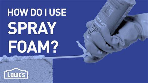 How Do I Use Spray Foam? | DIY Basics   YouTube