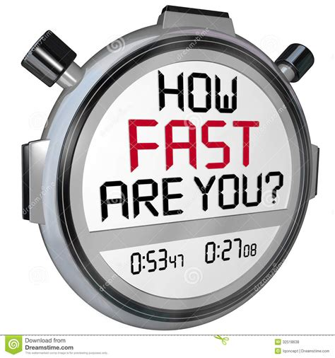How Fast Are You Stopwatch Timer Clock Royalty Free Stock ...