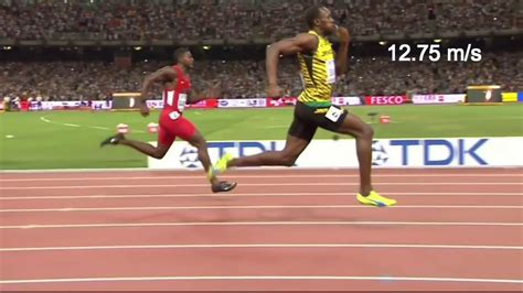 How fast can a human run? 9.27 is the World record in 100m ...
