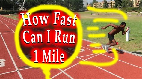 How Fast Can I Run a Mile?   Running Speed Test!   YouTube