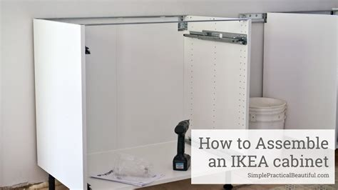 How to Assemble an IKEA SEKTION Base Cabinet   YouTube