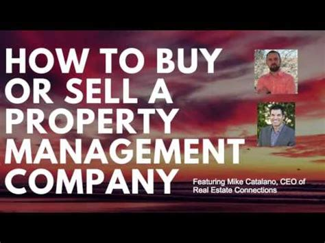 How To Buy Or Sell A Property Management Company   YouTube