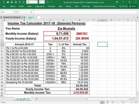 How to Calculate Income Tax Part I for Salaried Person ...