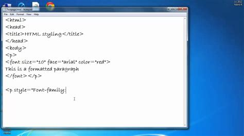 How to Change Color, Font, and Size of a Text in HTML ...