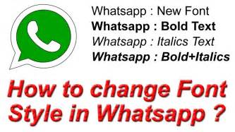 How to change Font Style in Whatsapp ? Use Stylish Fonts ...