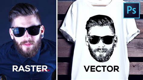 How to Convert Raster Image into Vector in Photoshop   YouTube