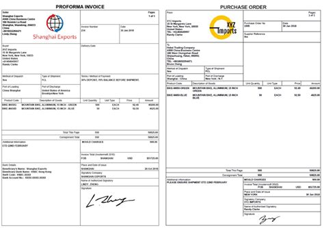 How to create a Proforma Invoice and Purchase Order ...