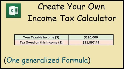 How to Create an Income Tax Calculator in Excel   YouTube