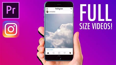 How to create FULL SIZE VIDEO posts for INSTAGRAM in Adobe ...