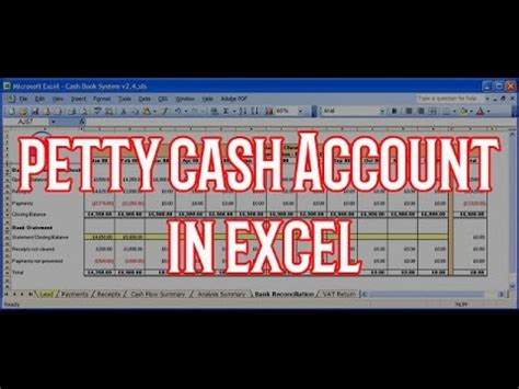 How to create Petty Cash Account with excel   YouTube