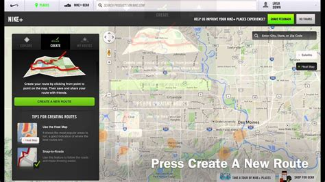 How to Create Running Route on Nike+   YouTube