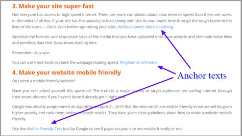 How to Create SEO Friendly Anchor Texts For Your Website ...