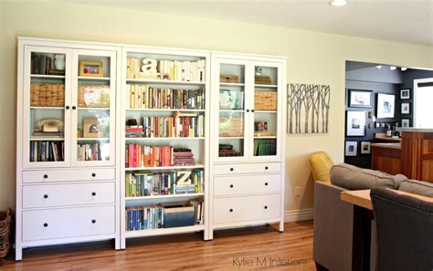 How to decorate a long wall, ikea hemnes bookcase