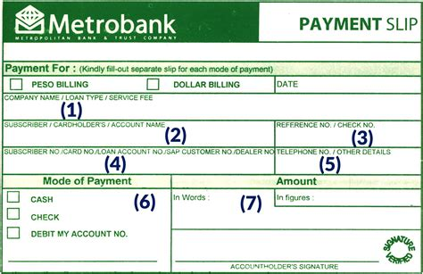 How to deposit through Payment Slip | First Metro Asset ...