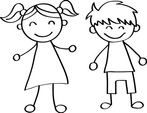 how to draw a boy and girl   Easy drawings easy