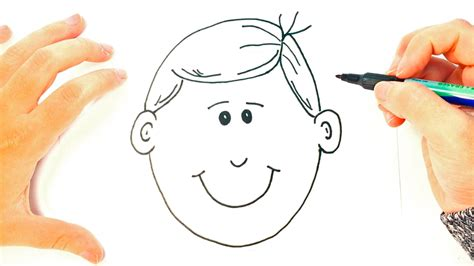 How to draw a Boy for Kids   Boy Face Easy Draw Tutorial ...