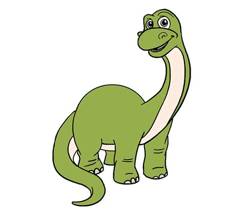 How to Draw a Cartoon Dinosaur | Easy Step by Step Drawing ...