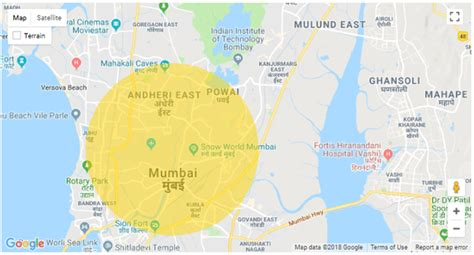 How to draw a circle on Google Maps   Quora